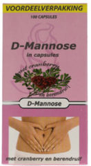 Beautylin Herbapharm Herbapharm D-mannose Combi met Cranberry en Berendruif - 50 stuks - Voedingssupplement