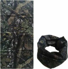 Licht-grijze Fako Fashion® - Microfiber Faceshield - Bandana - Nekwarmer - Sjaal - Camouflage Oak