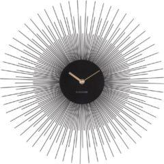 Karlsson Klok Wandklok Peony Small zwart - diameter 45 cm