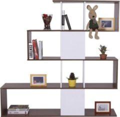 HOMCOM Regal Standregal Bücherregal Raumteiler Weiß 145 cm Bücherregal Aufbewahrungsregal Raumteiler Regale