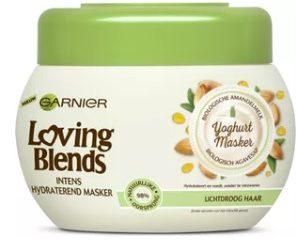 Afbeelding van Garnier Loving Blends Voedende Amandelmelk & Agavesap Haarmasker - 300 ml - Lichtdroog Haar