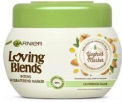 Garnier Loving Blends Voedende Amandelmelk & Agavesap Haarmasker - 300 ml - Lichtdroog Haar