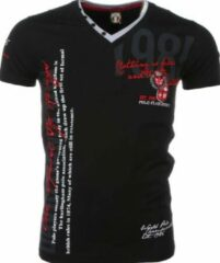 David Copper Italiaanse T-shirt - Korte Mouwen Heren - Borduur Polo Club - Zwart Italiaanse T-shirt - Korte Mouwen Heren - Borduur Polo Club - Zwart Heren T-shirt Maat M