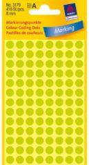 Witte Etiket Zweckform 8mm Rond 4 Vel A 104 Etiketjes Lichtgroen