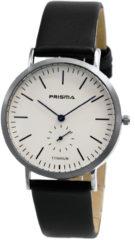 Prisma Herenhorloge P.1227 Lederen band Zilverkleurig