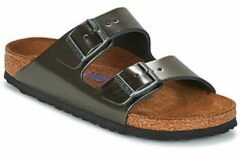 Grijze Wedges Arizona Cuir Soft Footbed by Birkenstock