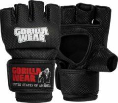 Gorilla Wear Manton MMA Handschoenen (Met Duim) - MMA Gloves - Zwart/Wit - L/XL