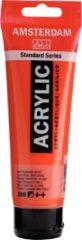 Rode Royal Talens Standard tube 120 ml Naftolrood licht halfdekkende acrylverf naftol rood licht