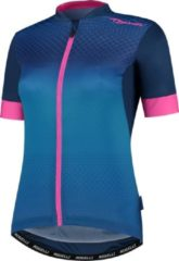 Donkerblauwe Rogelli Ds KM Lux Fietsshirt Dames - Maat XL