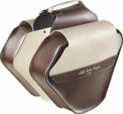 Donkerbruine Selle Monte Grappa Monte Grappa dubbele tas 17,5L Fashion Skay D-bruin/cream