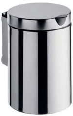 Emco System 2 afvalemmer m. deksel rond wandmodel 3-liter chroom