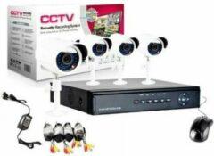 Zwarte CCTV DVR Kit Beveiligingscamera Plug en Play camerasysteem - 8 camera's