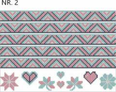 Witte Merkloos / Sans marque Diamond Painting Stickers- strepen- NR.2