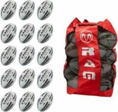 New Match Rugbybal bundel - Met ballentas - 15 stuks Balmaat 5 Zwart