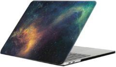 Macbook pro 13 inch retina 'touchbar' case / hoes van By Qubix - groen stars - Alleen geschikt voor Macbook Pro 13 inch met touchbar (model nummer: A1706 / A1708) - Eenvoudig te bevestigen macbook cov