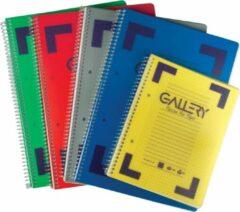Gallery Traditional spiraalschrift formaat A5 geruit 5 mm geassorteerde kleuren 160 bladzijden