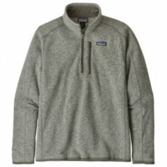 Patagonia - Better Sweater 1/4 Zip - Fleecetrui maat L, grijs