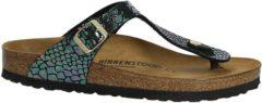 Birkenstock - Gizeh - Sportieve slippers - Dames - Maat 38 - Multi - Shiny Snake Black BF
