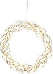 LED-Dekokranz gekräuselt Star Trading brass