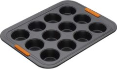 Zwarte Le Creuset Pâtiliss Bakvorm - Voor 12 muffins - Ø 34 cm