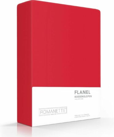 Afbeelding van 2x Hoogwaardige Flanel Kussenslopen Rood | 65x65 | Warm En Zacht | Ideaal Tegen De Kou