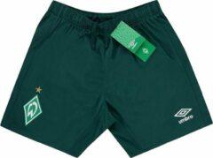 Donkergroene Voetbalbroekje Werder Bremen Umbro kids maat 152 (11 a 12 Jaar)