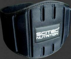 Zwarte Scitec Nutrition - Gewichtshef Gordel - Rugriem - Halterriem - Gewichtheffersriem - model Fitness - Extra Breed - S