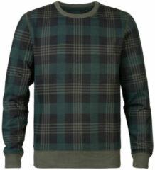 Grijze Petrol Industries sweater met ruitdessin groen