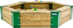 Hörby Bruk zandbak 150 x 110 x 28 cm bruin/groen