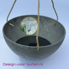 Plantenwinkel.nl Artstone fiona hanging basket grijs M