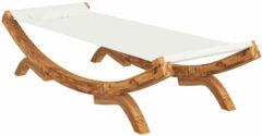 Creme witte VidaXL Hangmat 100x188,5x44 cm massief vurenhout crèmekleurig