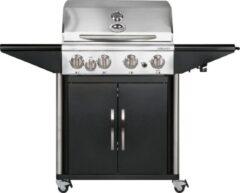 Zilveren Outdoorchef Australia 455 G Gasbarbecue - 5 branders - Zwart