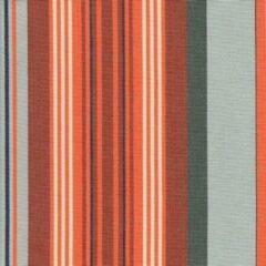 Acrisol Turqueta Teja T3 rood, oranje grijs gestreept stof per meter buitenstoffen, tuinkussens, palletkussens