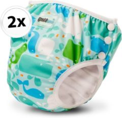 Bambinex wasbare zwemluier en oefenbroekje - 2 stuks - Moby - maat XS