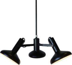 Merkloos / Sans marque Artdelight Hanglamp Vectro 3 lichts Ø 55 cm zwart