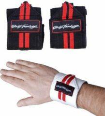 Bodytrading Easy Wrist Wrap SU100 - Wit - Zwart/Wit - Elastiek