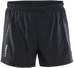 "Zwarte Craft Hardloopbroek Heren Essential 5"" Shorts - Black - XXL"