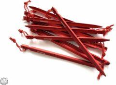 Rode Haringboer 23cm 7075-T6 aluminium Y-tentharingen - Haringen inclusief haringzak