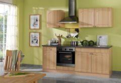 HELD Möbel Küchenzeile Rom 210 cm Buche Nachbildung - ohne E-Geräte