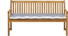 Beliani Tuinbank acaciahout met marineblauw kussen 160 cm VIVARA