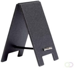 Krijtbord securit mini tafel set 5 stuks zwart + 1 marker