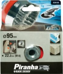 BLACK+DECKER Piranha - Komstaaldraadborstel - M14 - 100 mm - X36105