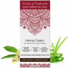 Tints Of Nature Henna Cream Dark Brown Semi Permanent (70ml)