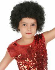 CARNIVAL TOYS - Zwarte afro pruik voor kinderen - Pruiken