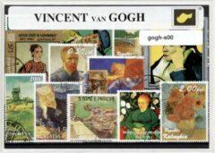 Transparante KLOMP G.T.P Vincent van Gogh - postzegelpakket cadeau met verschillende postzegels