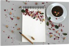 Rode KuijsFotoprint Plexiglas - Koffiebonen met Kruiden - 120x80cm Foto op Plexiglas (Wanddecoratie op Plexiglas)