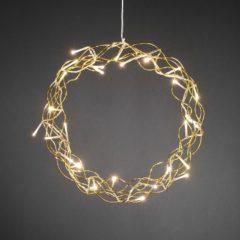 Raamdecoratie Energielabel: A (A++ - E) Krans Warm-wit LED Goud Konstsmide 2890-803