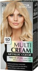 Joanna - Multi Cream Metallic Color 5D Effect farba do włosów 28 Bardzo Jasny Perłowy Blond