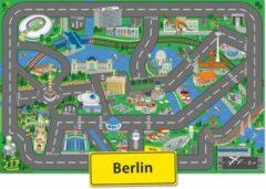 Groene Speelkleed Berlijn City-Play - Autokleed - Verkeerskleed - Speelmat Berlijn