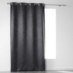 Antraciet-grijze Sleepp Noctua - Verduisterend Velvet gordijn - Velours gordijn - met ringen - 140 x 240 cm - Antraciet